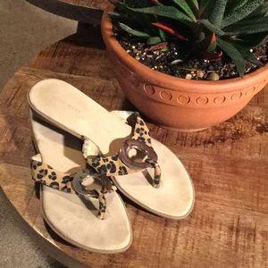 Nine West Leopard Thong Sandals